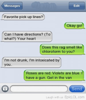Funniest Text Message Pick Up Lines Ever!