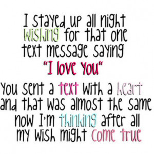 Night time ttext message