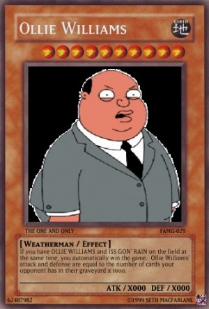 yugioh card- ollie williams by InvaderDrew