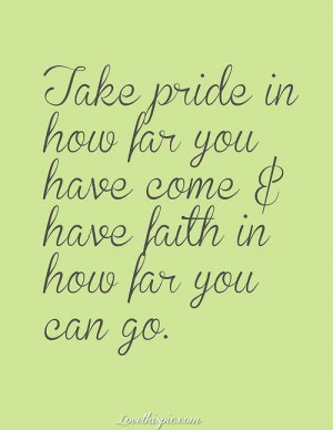 Take Pride, Have Faith