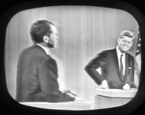 The famous debate between Nixon and Kennedy