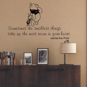 Winnie the Pooh inspired Wall Quote Decal Art House lettering vinyl ...