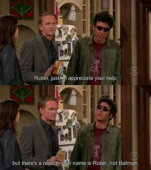 How I Met Your Mother Robin, Barney & Ted