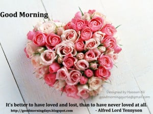 Good Morning Love Inspiring Quotes for the day