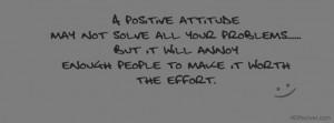 Positive Attitude Quote FB Cover