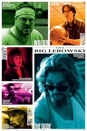 Big Lebowski - Cast Quotes Movie Poster