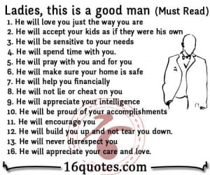 Ladies, this is a good man