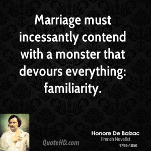 Honore de Balzac Marriage Quotes