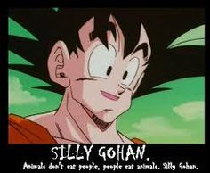 TFS DBZ Abridged Animals don't eat people, people eat animals. Silly ...