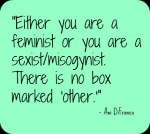 Feminist Quote Friday {Ani DiFranco}