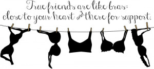 Friends are like bras - close to your heart and there for support.