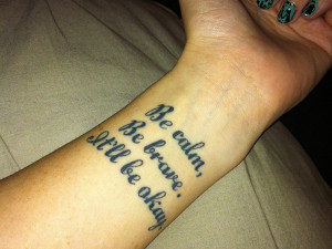 this artistic tattoo quote spells the philosophy of life and how to ...