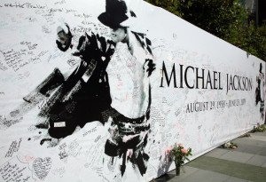 View of Michael Jackson's