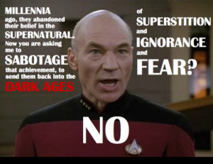 Captain Picard doing what he does best: WINNING!
