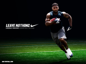NFL Nike Football Motivational Leave Nothing Ladainian Tomlinson ...