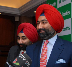Malvinder Singh (right) with Managing Director Shvinder Mohan Singh ...