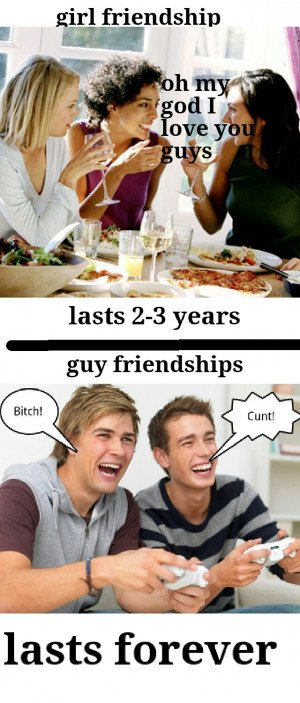 The difference between girl and guy best friends