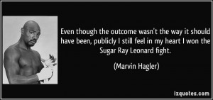 Sugar Ray Leonard Quotes