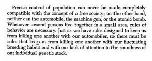 Controlling Men Quotes Precise control of population