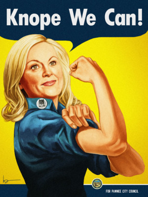 See Leslie Knope As Rosie the Riveter