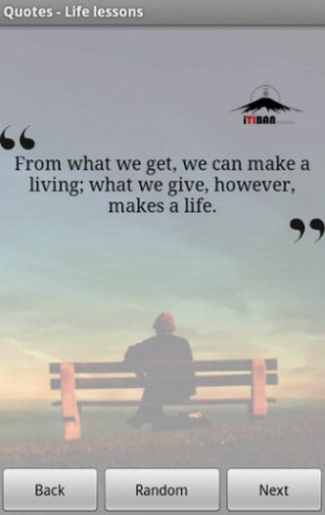This is an amazing application with hundreds of life lessons quotes ...