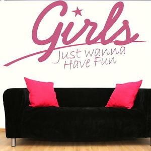 Girls-Fun-Quote-Wall-Sticker-Decal-Transfer-Art-Graphic-Stencil-SML ...