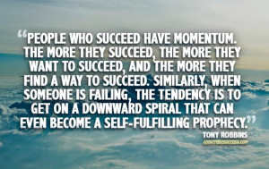 Tony Robbins Picture Quote Momentum Success