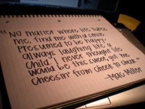 cheesin' from cheek to cheek :)