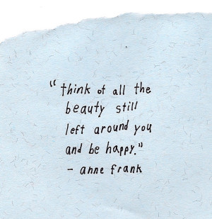 anne frank, beauty, happy, quote, text, words
