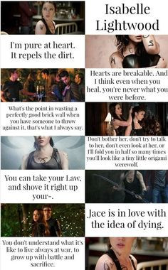 isabelle lightwood more isabel lightwood fav movies book quotes ...