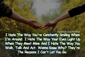 Love Quotes   The Reasons I Can't Let you Go Couple Hand Cute Romantic