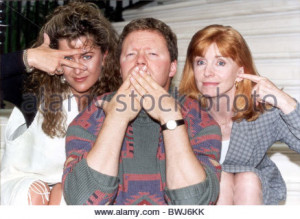 Rory Bremner Comedian With Jane Asher Actress right Stock Photo