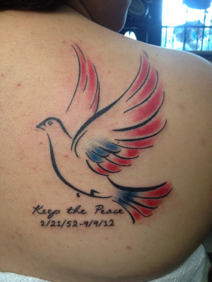 dove tattoos with quotes