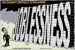 Joblessness by Monte Wolverton, Cagle Cartoons from caglecartoons.com ...