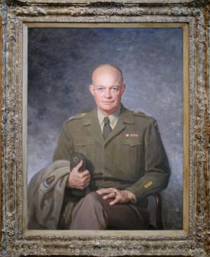 Dwight David Eisenhower, 1947, Oil on canvas by Thomas Edgar Stephens ...