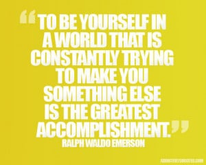 Ralph Waldo Emerson Success Picture Quotes