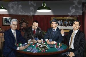 At the head of the table. John Gotti, Al Capone, Carlo Gambino ...