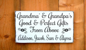 Personalized Grandparents Sign Parents Gift Mom Dad Wood Signs ...