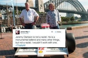 Support: James May says fellow Top Gear presenter Jeremy Clarkson is ...