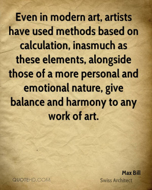 ... and emotional nature, give balance and harmony to any work of art