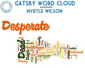 gatsby word cloud_myrtle wilson
