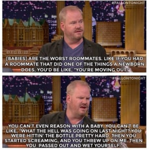 Comedian Jim Gaffigan On Babies & Roomates On The Jimmy Fallon Show