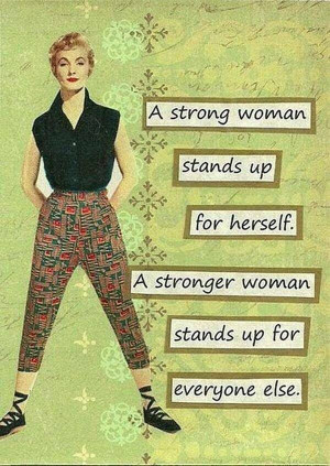 Strong women fight for others