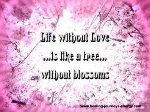 Quote - Life without Love.