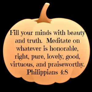 Autumn Pumpkin Decorations with Bible verses