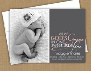 Religious Birth Announcements