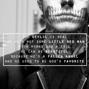 ... He's Not Some Little Red Man With Horns And a Tail ~ Apology Quote