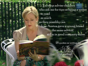 JK ROWLING'S 20 QUOTES ON WRITING @Aubrianne Bell You'll love this ...