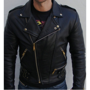 Displaying 17> Images For - Black Leather Motorcycle Jacket For Men...
