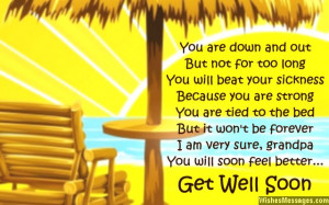 Sweet get well soon greeting card poem for grandpa